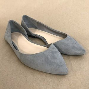 Forever 21 Gray Suede Flats Sz 6.5